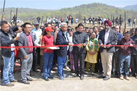 Minister Biswajit inaugurates Bridges in Ukhrul district