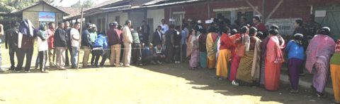 Re-poll peaceful at Thongju AC; over 80% turn out