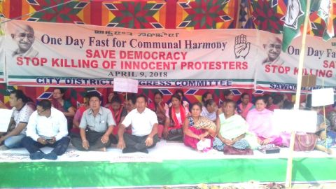 MPCC joins nationwide fast protesting alleged atrocities against Dalits, minorities, STs, SCs under BJP