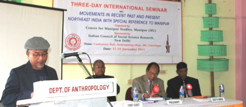 Seminar on movements in recent past and present Northeast India with special reference to Manipur begins