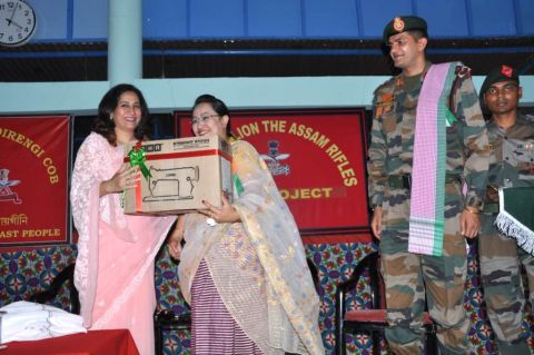 Assam Rifles distributes Sewing Machines and organises Medical Camp