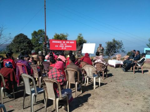 Assam Rifles organises Awareness drive on HIV/AIDS