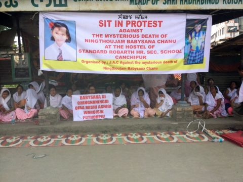 Sit-in-protest staged against the mysterious death of N. Babysana; JAC says the minor girl was murdered