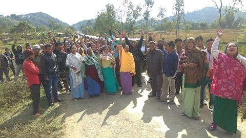 Road blocked, Rally staged, public meeting held, decrying govt. negligence on deteriorated road condition at Yairipok