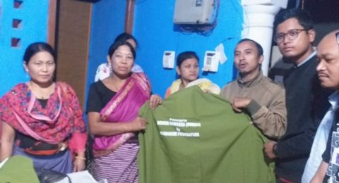 Humanism Foundation distributes Rain Coats to women hawkers