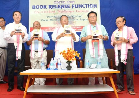 "Minister L. Jayantakumar Singh releases book titled ""Meiteisingee Ethnography"""