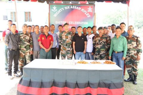 Assam Rifles celebrates Easter Sunday with locals