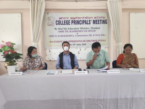 Education Minister chairs meeting with college principals' and students' organisation representatives