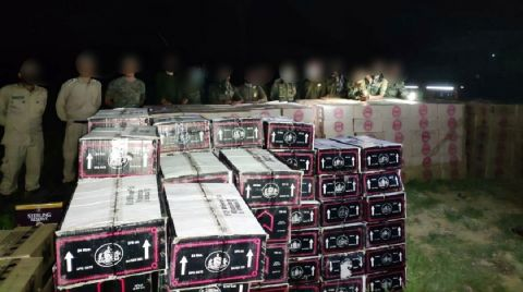 Combined team of AR and Manipur Police seized IMFL worth lakhs in Khongsang, Noney