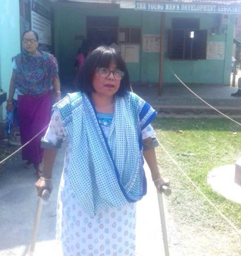 PwD woman struggled hard to cast vote; no special facilities provided