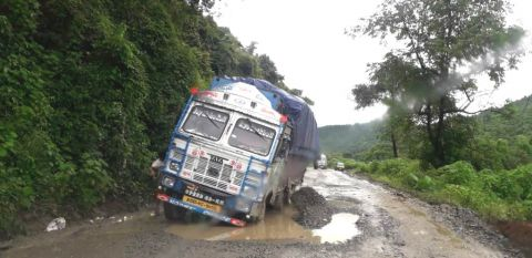 NH-2 Motbung-Sapermeina stretch in pathetic conditions, citizens & Organizations decries negligence