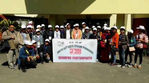 35 youths left Imphal for North East Youth Exchange Programme