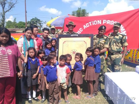 BSF Organizes Free Medical Camp & Distributes Sports Items and Sewing Machine