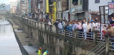 Chief Minister Inspects rejuvenation and conservation works of Nambul River
