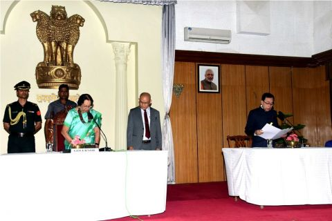 Manipur's  1st Lokayukta Chairperson sworn in retired justice T. Nandakumar Singh as Chairperson