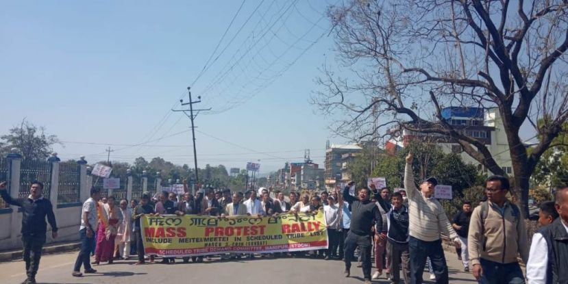 Gigantic protest rally staged for the inclusion of Meetei/Meitei in ST list