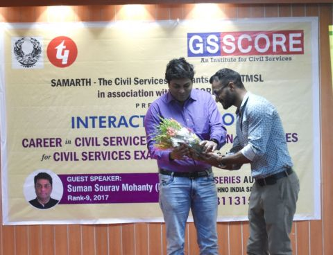 GS Score Organizes 'Shower of thoughts' with IAS Topper; 2017 IAS Topper emphasizes preparation strategies for clearing CSE