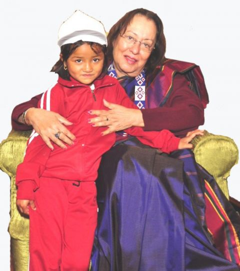 Guv' Najma Heptula shows her love and affections to childrens from far flung interior area of Chandel district