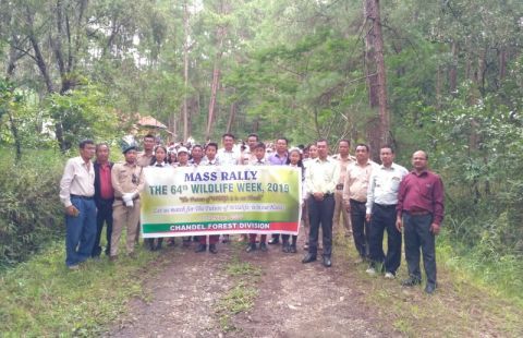 "Rally held in connection with ""64th Wildlife Week Celebration 2019"" in Chandel"
