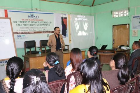 Two Day Training Programme for School Teachers conducted on Human Trafficking and Child Protection Systems