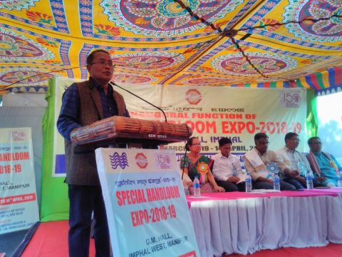 Special Handloom Expo begins at GM Hall, Imphal