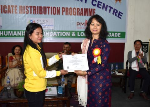 Skill certificates and trade licenses distributed to PMKVY trainees