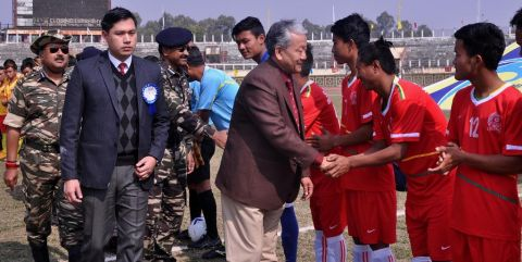 Dy CM inaugurates 6th Shaheed Manoranjan Singh Memorial State Open Football Tournament