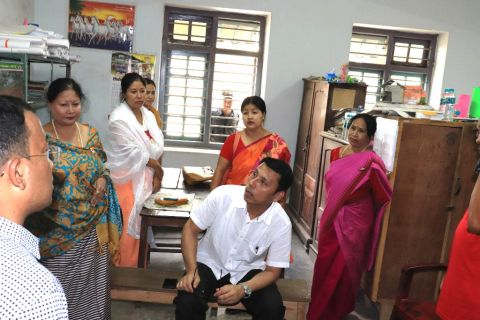 Edn Minister visits D.El.Ed. Exmination Centres at Imphal