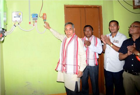 Deputy Chief Minister Inaugurates 8th solar power plant in Uripok assembly constituency