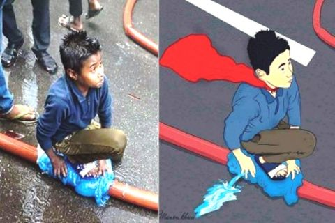 Dhaka Fire: People now calling this slum boy 'Superman'