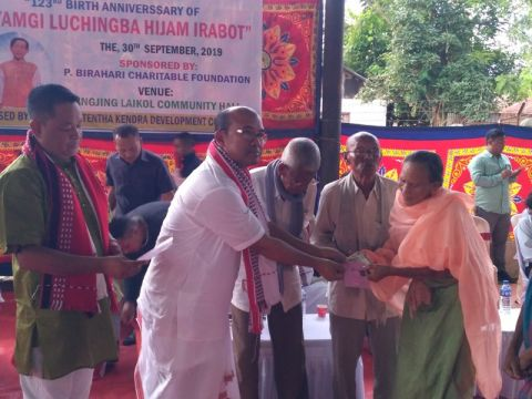 MLA Brojen assures free NFSA rice for beneficiaries of Wangjing Tentha Assembly Constituency
