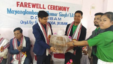 FEW &  WODA bids farewell to DC Jiribam