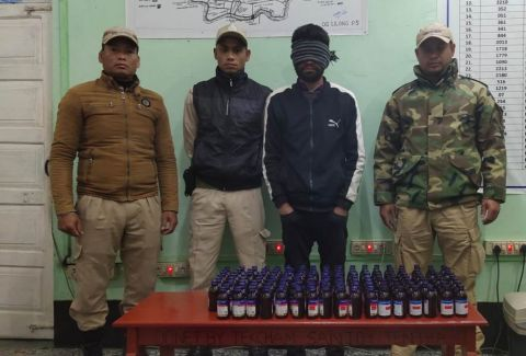 Illegal cough syrup bottles seized