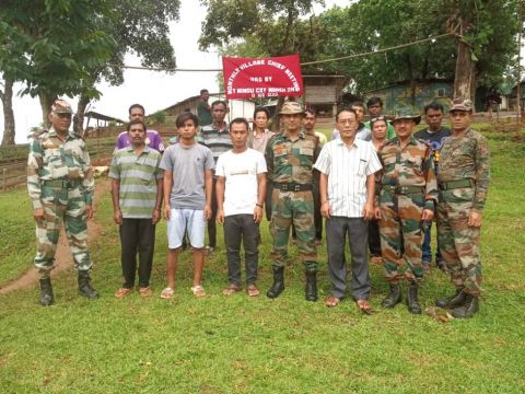 Assam Rifles Organises Monthly Village Chief Meet