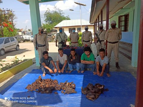 5 arrested with wildlife meat and arms