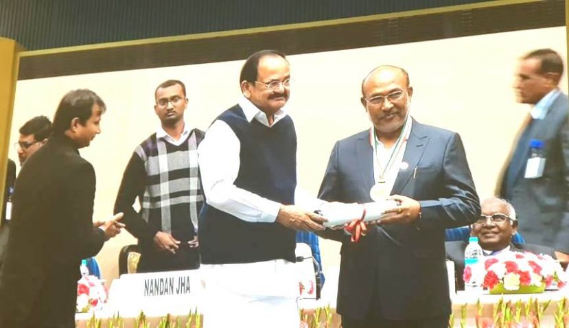 Chief Minister N. Biren Singh conferred 'Champions of Change 2018' award
