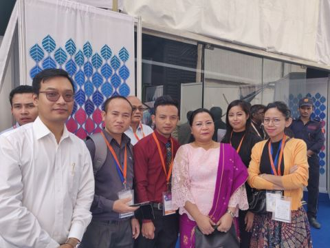 Nemcha Kipgen graces the 1st India Intl. Cooperatives Trade Fair, 2019