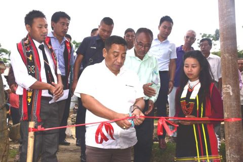 Minister Shyamkumar opens rural market shed in Senapati; Inspects ongoing projects in Imphal East