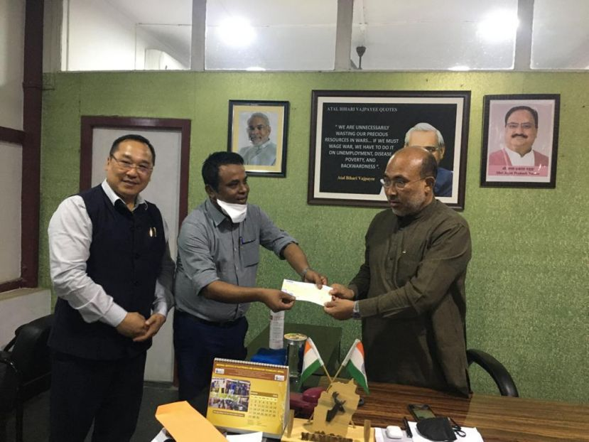 ND Industries donates Rs.1 Lakh to CM Covid Relief Fund