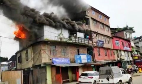 Properties worth around 10 Lakhs destroyed in fire accident