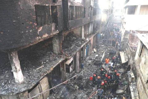 Deadly fire kills 70 in Dhaka, death toll may rise