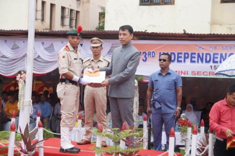 Independence Day Celebrated At Thoubal District