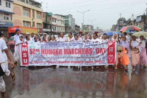 52nd Hunger Marchers' Day Observed AMSU reiterated demands for repeal of AFSPA