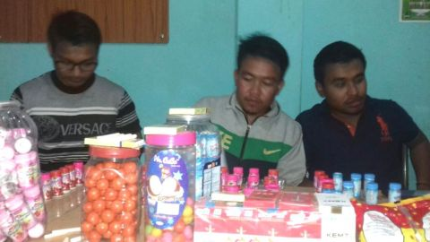 MSF volunteers seized health hazard package snacks from 11 shops at Paona Keithel
