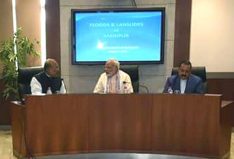 PM Modi holds review meeting in Guwahati on flood situation in North Eastern states