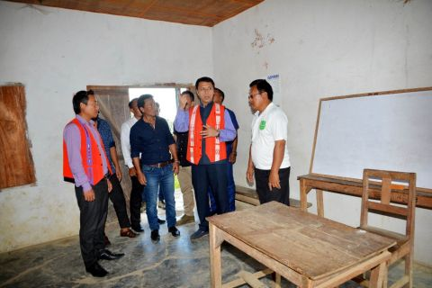 Education Minister inspects schools at Ukhrul