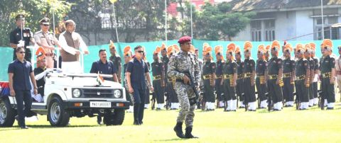 128th Manipur Police Raising Day Held; Government committed to uphold the territorial integrity of the state: CM
