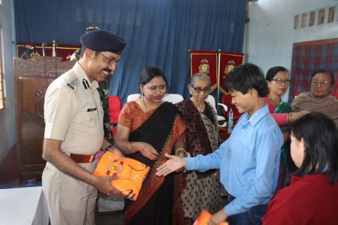 CRPF distributes sports dresses to physically challenge people