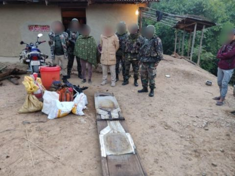Assam Rifles team busts illegal drug manufacturing unit in Thoubal District
