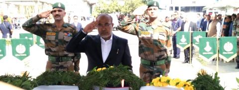 State pays last respect to two soldiers; Appropriate action will be taken, no one will be spared: Chief Minister